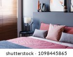 close up of a double bed... | Shutterstock . vector #1098445865