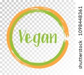 orange green vegan diet label ... | Shutterstock .eps vector #1098448361