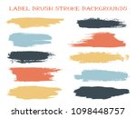 minimal label brush stroke... | Shutterstock .eps vector #1098448757
