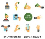 business hand icon set. thumb...   Shutterstock .eps vector #1098450395