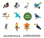 birds icon set. birdhouse nest... | Shutterstock .eps vector #1098450404