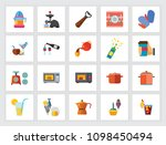 cooking and drinks icon set.... | Shutterstock .eps vector #1098450494