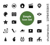 icon set of entertainment signs.... | Shutterstock .eps vector #1098450845