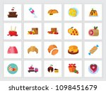 sweet food concept. flat icon... | Shutterstock .eps vector #1098451679