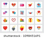 st. valentine day holiday... | Shutterstock .eps vector #1098451691