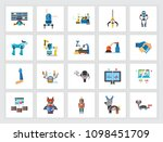 robotic technology concept.... | Shutterstock .eps vector #1098451709