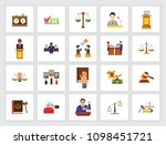 legal system concept. flat icon ... | Shutterstock .eps vector #1098451721
