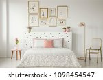 Bright Bedroom Interior With...
