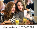 two young and trendy hipster...   Shutterstock . vector #1098459389
