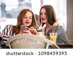 two young and trendy hipster...   Shutterstock . vector #1098459395