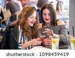 two young and trendy hipster...   Shutterstock . vector #1098459419