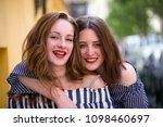 Two Lovely Girls Having Fun On...
