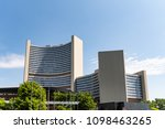 Small photo of Vienna, Austria, May 23. 2018: The United Nations Building in Vienna with the International Atomic Energy Agency IAEA