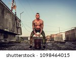 young handsome tattooed man...   Shutterstock . vector #1098464015