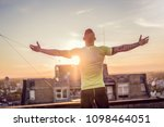 young handsome tattooed man...   Shutterstock . vector #1098464051