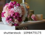bright wedding bouquet for the... | Shutterstock . vector #1098475175
