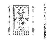 carpet and arrows. design...   Shutterstock .eps vector #1098476174