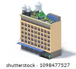 3d rendering set of flat...   Shutterstock . vector #1098477527