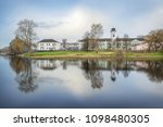 fire station buildings with...   Shutterstock . vector #1098480305