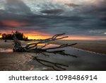 indian ocean coastline and... | Shutterstock . vector #1098486914