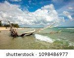 indian ocean coastline and... | Shutterstock . vector #1098486977