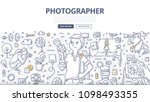 doodle vector illustration of a ... | Shutterstock .eps vector #1098493355