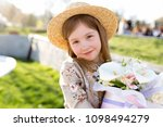 little tanned lady in vintage...   Shutterstock . vector #1098494279