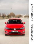 Small photo of Istanbul/Turkey - March 22 2018 : Volkswagen Polo is a car produced by the German manufacturer Volkswagen. It is sold in Europe and other markets worldwide in hatchback, sedan and estate variants.
