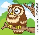 owl  cute cartoon  cute vector | Shutterstock .eps vector #1098504767
