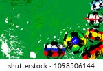 abstact background  with soccer ...   Shutterstock .eps vector #1098506144