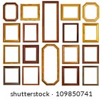 gold and wood frame collection... | Shutterstock . vector #109850741