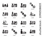 set of 16 simple editable icons ... | Shutterstock .eps vector #1098508835