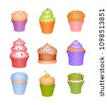 set of desserts. icons   Shutterstock .eps vector #1098513851