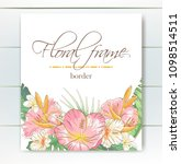vector delicate invitation with ... | Shutterstock .eps vector #1098514511