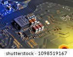 electronic circuit board close... | Shutterstock . vector #1098519167