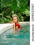 fashion portrait of a beautiful ... | Shutterstock . vector #1098525587