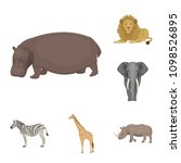 different animals cartoon icons ... | Shutterstock .eps vector #1098526895