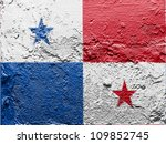 the panama flag painted on... | Shutterstock . vector #109852745