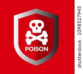 poison and shield.protection... | Shutterstock .eps vector #1098527945