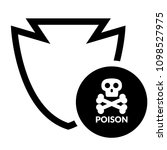 poison and shield.protection... | Shutterstock .eps vector #1098527975