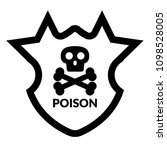 poison and shield.protection... | Shutterstock .eps vector #1098528005