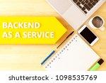 backend as a service   linear... | Shutterstock . vector #1098535769