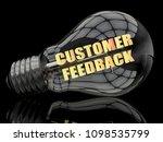 customer feedback   lightbulb... | Shutterstock . vector #1098535799