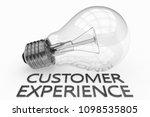 customer experience   lightbulb ... | Shutterstock . vector #1098535805