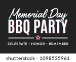 memorial day bbq barbecue party ... | Shutterstock .eps vector #1098535961
