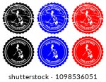 philippines   rubber stamp  ... | Shutterstock .eps vector #1098536051