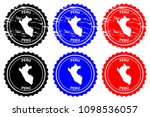 peru   rubber stamp   vector ... | Shutterstock .eps vector #1098536057