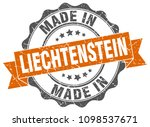 made in liechtenstein round seal | Shutterstock .eps vector #1098537671