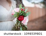 bridal bouquet formal dress... | Shutterstock . vector #1098539801