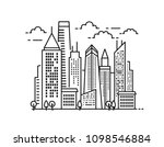 city landscape pattern. thin... | Shutterstock .eps vector #1098546884